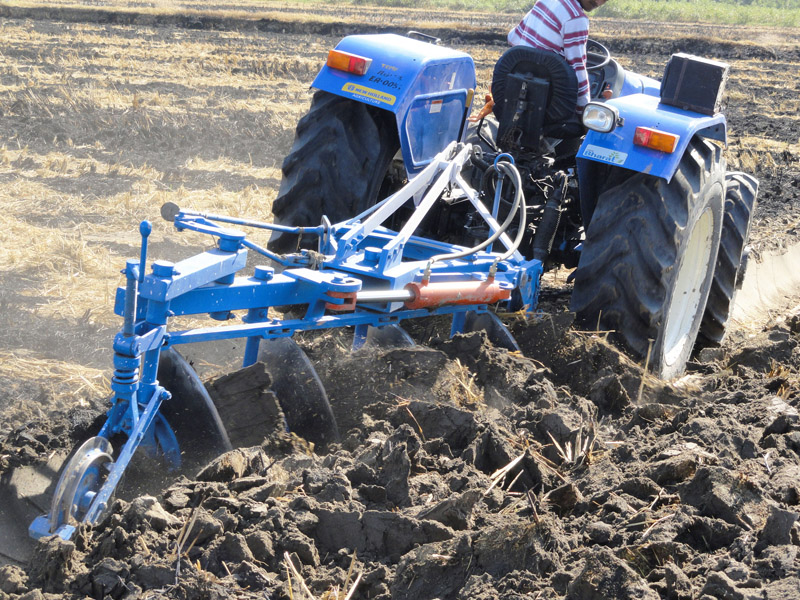 how to set a plough